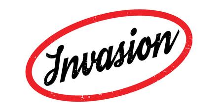 Invasion rubber stamp Illustration
