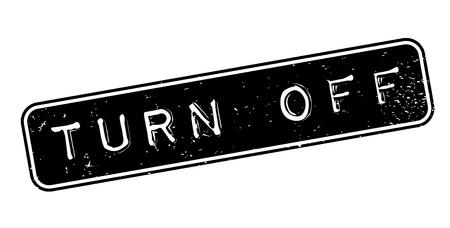 Turn Off rubber stamp Banco de Imagens - 84676429