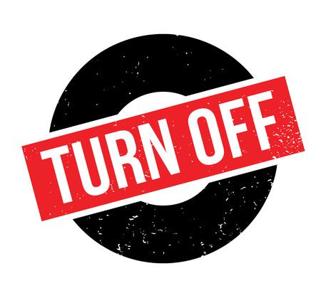 Turn Off rubber stamp Banco de Imagens - 84676116