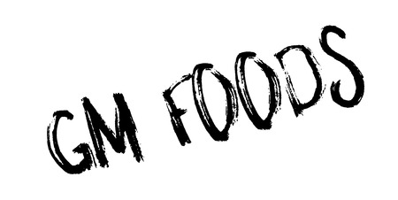 Gm Foods rubber stamp