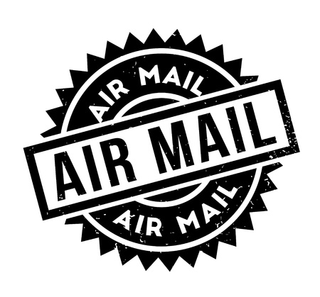 airmail stamp: Air Mail rubber stamp