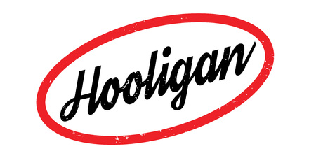 delinquent: Hooligan rubber stamp Illustration