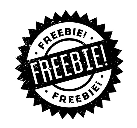 give out: Freebie rubber stamp
