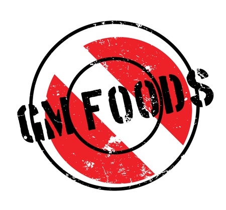 modified: Gm Foods rubber stamp. Grunge design with dust scratches. Effects can be easily removed for a clean, crisp look. Color is easily changed.