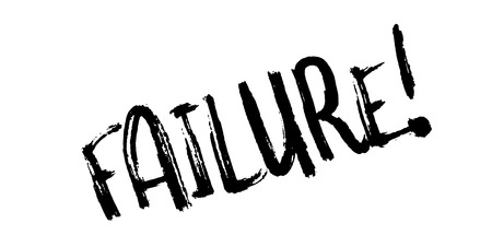Failure rubber stamp. Grunge design with dust scratches. Effects can be easily removed for a clean, crisp look. Color is easily changed. Stock Photo