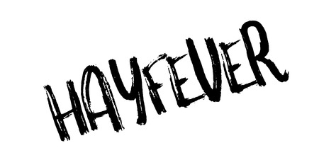 Hayfever rubber stamp. Grunge design with dust scratches. Effects can be easily removed for a clean, crisp look. Color is easily changed. Stock Photo
