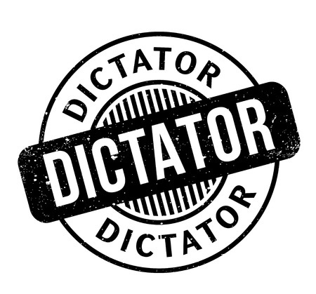 Dictator rubber stamp. Grunge design with dust scratches. Effects can be easily removed for a clean, crisp look. Color is easily changed.