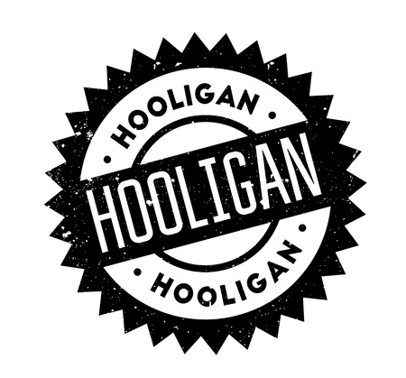 rowdy: Hooligan rubber stamp Illustration