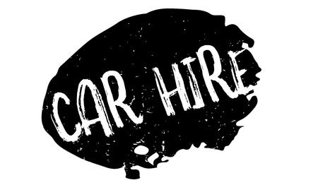 renting: Car Hire rubber stamp. Grunge design with dust scratches. Effects can be easily removed for a clean, crisp look. Color is easily changed.
