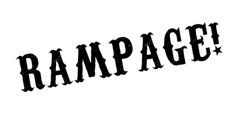 rampage: Rampage rubber stamp. Grunge design with dust scratches. Effects can be easily removed for a clean, crisp look. Color is easily changed.