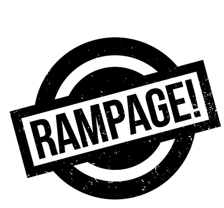 frenzy: Rampage rubber stamp. Grunge design with dust scratches. Effects can be easily removed for a clean, crisp look. Color is easily changed.