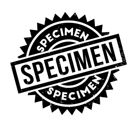 Specimen rubber stamp Illustration