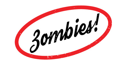 Zombies rubber stamp. Grunge design with dust scratches. Effects can be easily removed for a clean, crisp look. Color is easily changed.