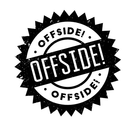 Offside rubber stamp Illustration
