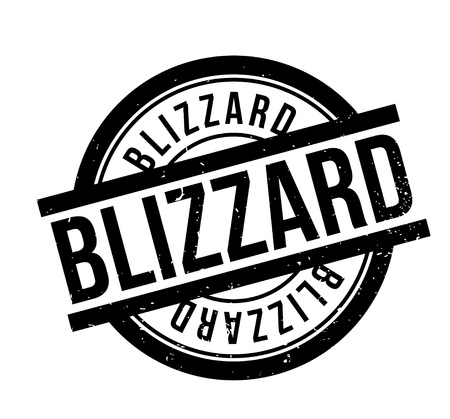 Blizzard rubber stamp