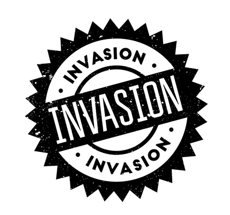 invade: Invasion rubber stamp Illustration