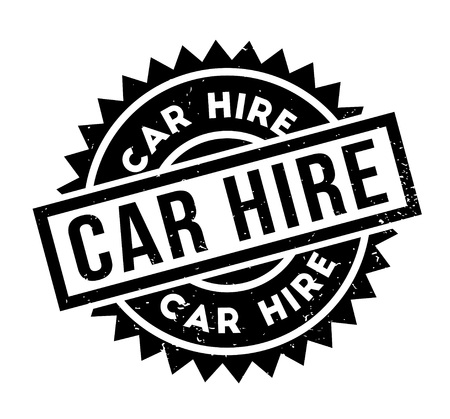 renting: Car Hire rubber stamp Illustration