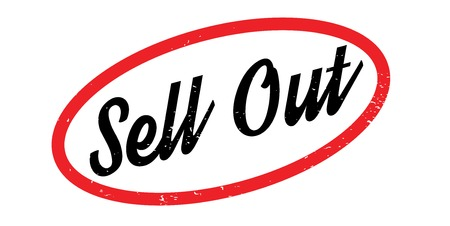 Sell Out rubber stamp