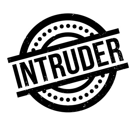 Intruder rubber stamp Illustration