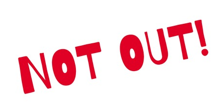 Not Out rubber stamp Illustration