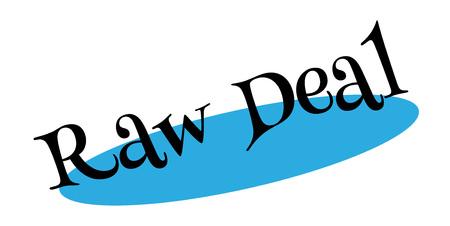 Raw Deal rubberzegel Stock Illustratie