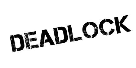 predicament: Deadlock rubber stamp Illustration