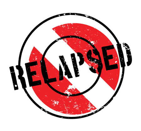 Relapsed rubber stamp. Grunge design with dust scratches. Effects can be easily removed for a clean, crisp look. Color is easily changed. Stock Photo
