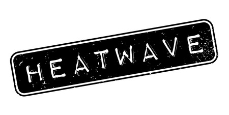 Heatwave rubber stamp. Grunge design with dust scratches. Effects can be easily removed for a clean, crisp look. Color is easily changed.