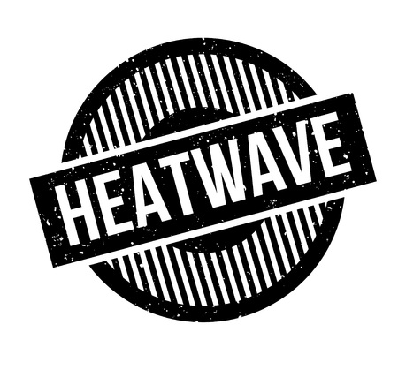 heatwave: Heatwave rubber stamp. Grunge design with dust scratches. Effects can be easily removed for a clean, crisp look. Color is easily changed.