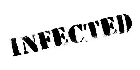 Infected rubber stamp Ilustração