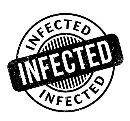 infected: Infected rubber stamp Illustration