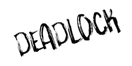 Deadlock rubber stamp Illustration