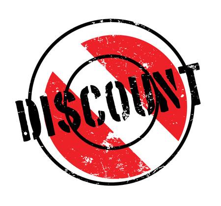 discounting: Discount rubber stamp