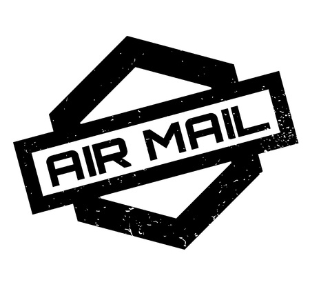 mailed: Air Mail rubber stamp