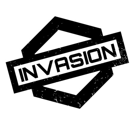 Invasion rubber stamp Stock fotó