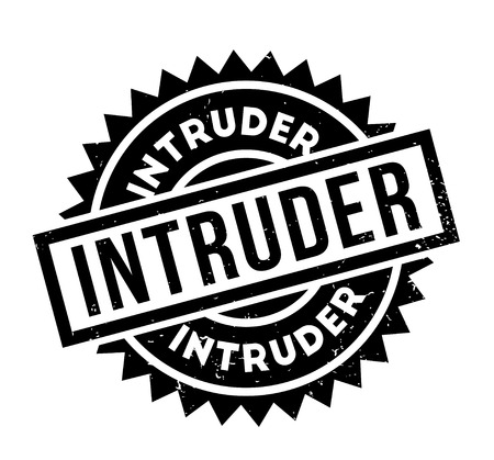 Intruder rubber stamp Stock Photo