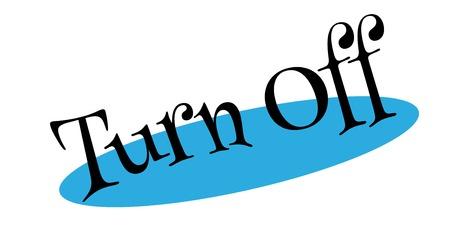 Turn Off rubber stamp Ilustração