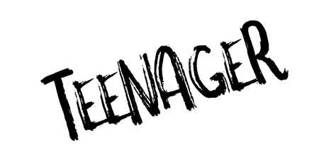 Teenager rubber stamp Illustration