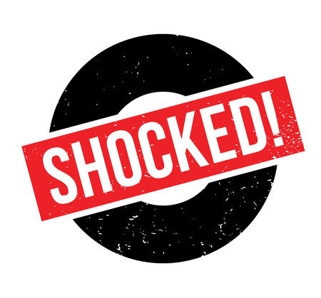 outrage: Shocked rubber stamp