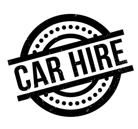 Car Hire rubber stamp Illustration