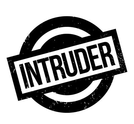 Intruder rubber stamp Illustration