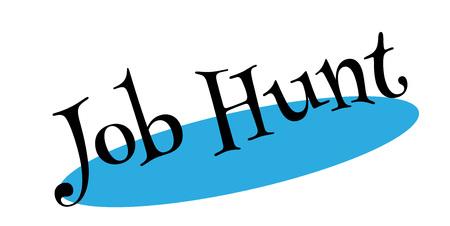 Job Hunt rubber stamp