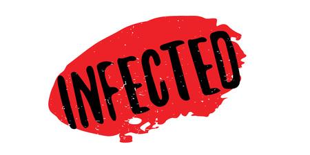 flu virus: Infected rubber stamp Illustration