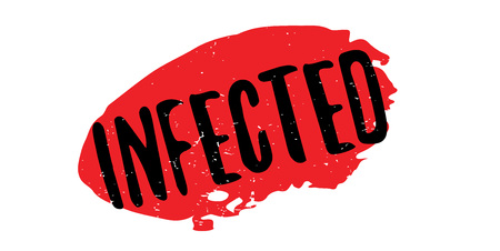 Infected rubber stamp Illustration