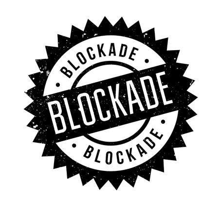 Blockade rubber stamp Çizim