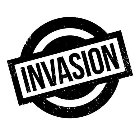 Invasion Stempel Standard-Bild - 84682383