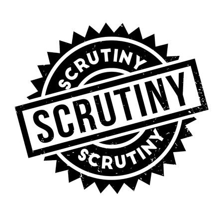 inquiry: Scrutiny rubber stamp