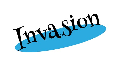 Invasion rubber stamp Illustration