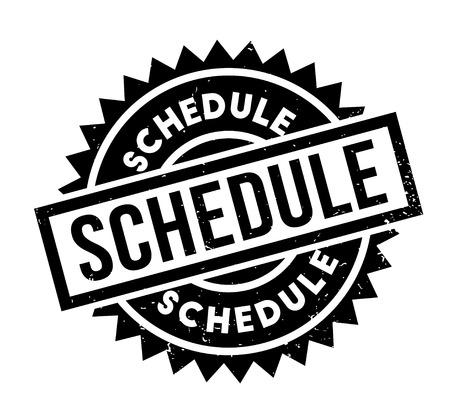 event planner: Schedule rubber stamp
