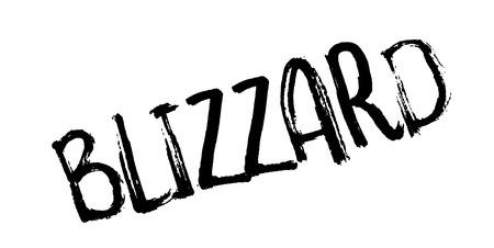 Blizzard rubber stamp